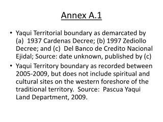 Annex A.1