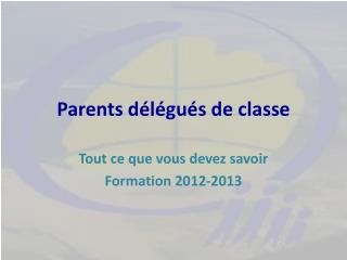 Parents délégués de classe