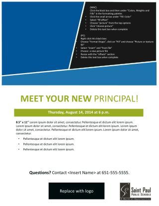 MEET YOUR NEW  PRINCIPAL!