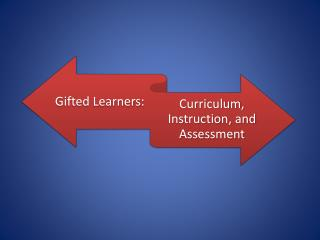 Teacher trained in gifted education