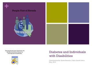 Diabetes and  Individuals                 with Disabilities