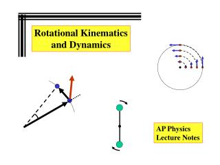 Rotational Kinematics and Dynamics