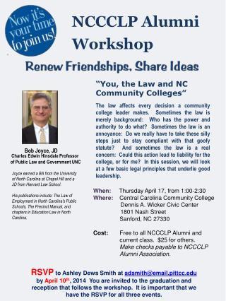 NCCCLP Alumni Workshop