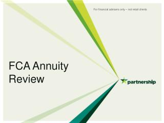 FCA Annuity Review