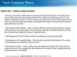 Tack Fastener Plans
