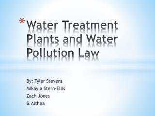 Water Treatment Plants and Water Pollution Law