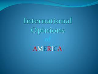 International Opinions