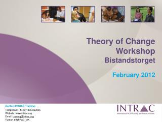 Theory of Change Workshop Bistandstorget February 2012