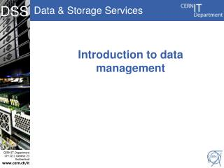 Introduction to data management