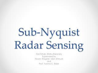 Sub-Nyquist Radar Sensing