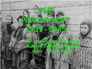 The  holocaust 1939-1945