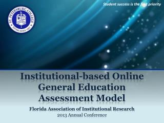 Institutional-based Online General Education Assessment Model