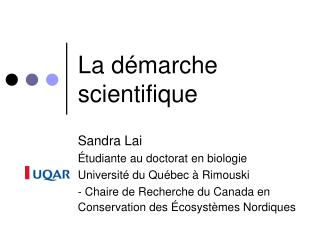 La d marche scientifique