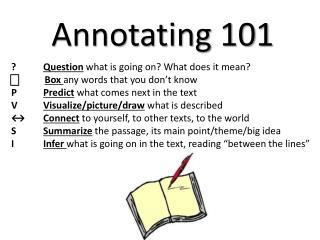 Annotating 101