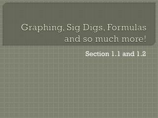 Graphing, Sig Digs, Formulas and so much more!