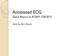 Annotated ECG