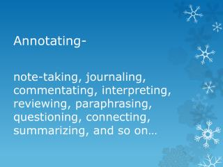 Annotating-