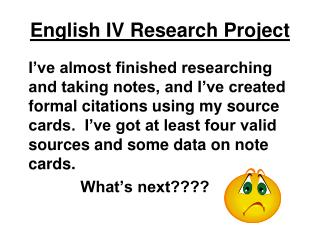 English IV Research Project