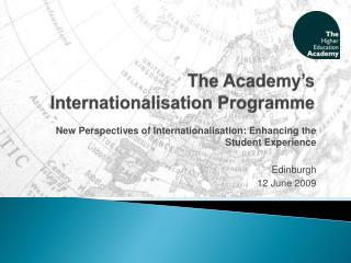 The Academy s Internationalisation Programme