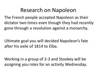 Research on Napoleon