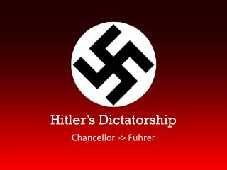 Hitler's Dictatorship