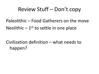 Review Stuff – Don't copy