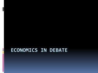 Economics in debate