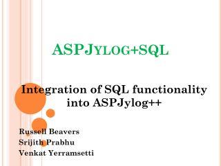 ASPJylog +SQL