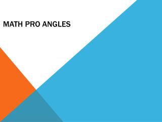 Math Pro Angles