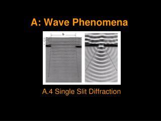 A: Wave Phenomena