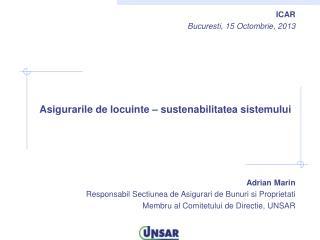 ICAR Bucuresti , 15  Octombrie , 2013