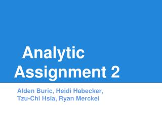 Analytic Assignment 2