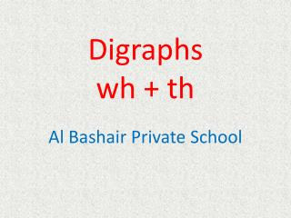 Digraphs w h  +  th