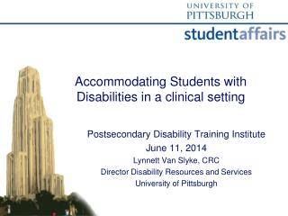 Accommodating Students with Disabilities in a clinical setting