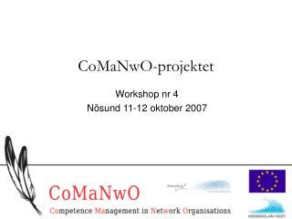 CoMaNwO-projektet