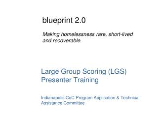 Large Group Scoring (LGS) Presenter Training