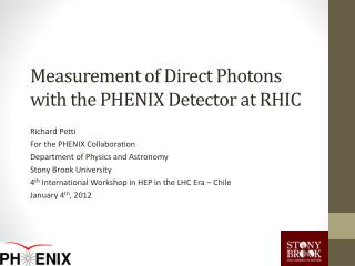 Measurement of Direct  Photons  with the PHENIX  Detector  at RHIC