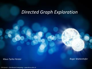 Directed Graph Exploration
