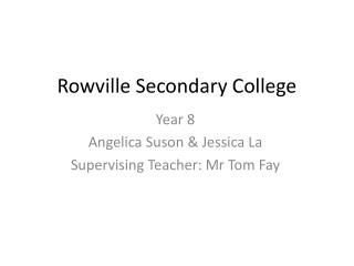 Rowville Secondary College