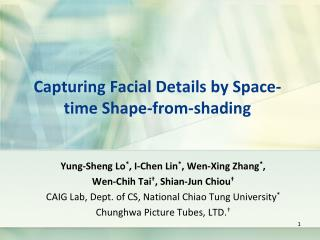 Capturing Facial Details by Space-time Shape-from-shading