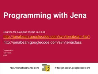 Programming with  Jena