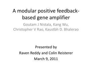A modular positive feedback-based gene amplifier