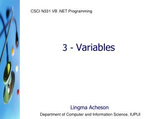 3 -  Variables