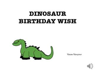 dinosaur birthday wish