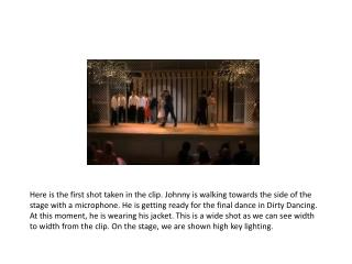 preliminary task dirty dancing