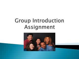 Group Introduction Assignment