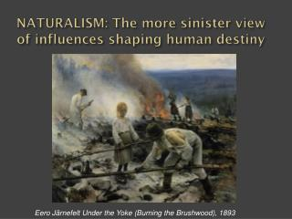 NATURALISM: The more sinister view of influences shaping human destiny