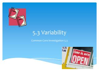 5.3 Variability