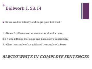 Bellwork  1. 28.14