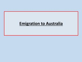 Emigration to Australia